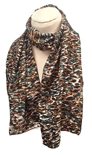 HomeSewBeautiful Handmade Scarf Multi Colored Fall Colors Polyester