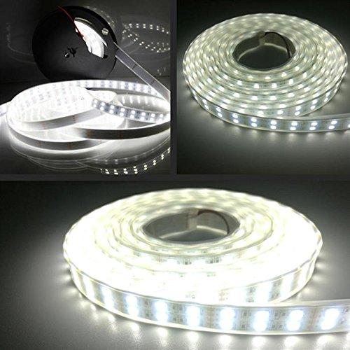 LEDテープライトLHYAN5m防水24V600連SMD5050二列式カバー付白ホワイト白ベース正面発光漁船/船舶/トラック/屋外照明/led間接照明