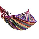 Lixada Hamaca Camping Doble/Individual para Patio Trasero Patio Porche Jardín Interior al Aire Libre Camping Senderismo