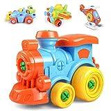 WAQB XL Auto Spielzeug zum Zusammenbauen, Zug, LKW, Motorrad - STEM-Baukasten - Stunden voller Spaß - Engineering-Kit für Jungen, Mädchen, Kleinkinder