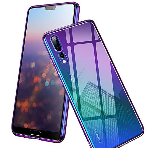 Verco Farbwechsel Hülle für Huawei P8 Lite 2017, Schutzhülle Handy Cover mit Farbverlauf Slim Hülle, Violett