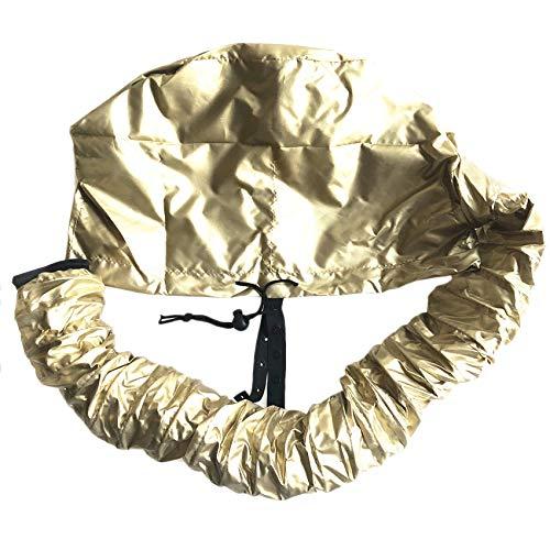 WOVELOT Gorro de Secado de Cabello TapóN de Aceite de BarberíA SalóN Sombrero de Peluqueria Casco Vaporizador de Cabello (Oro)