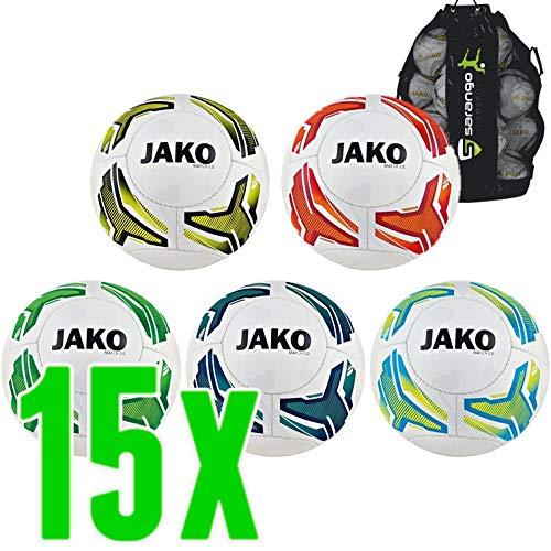 Sarango Sport Jako Lightball Match 2.0 Trainingsball Kinder 15er Ballpaket inkl. Ballsack, Wähle Größe und Gewicht:Gr. 3 (ca. 290 g)