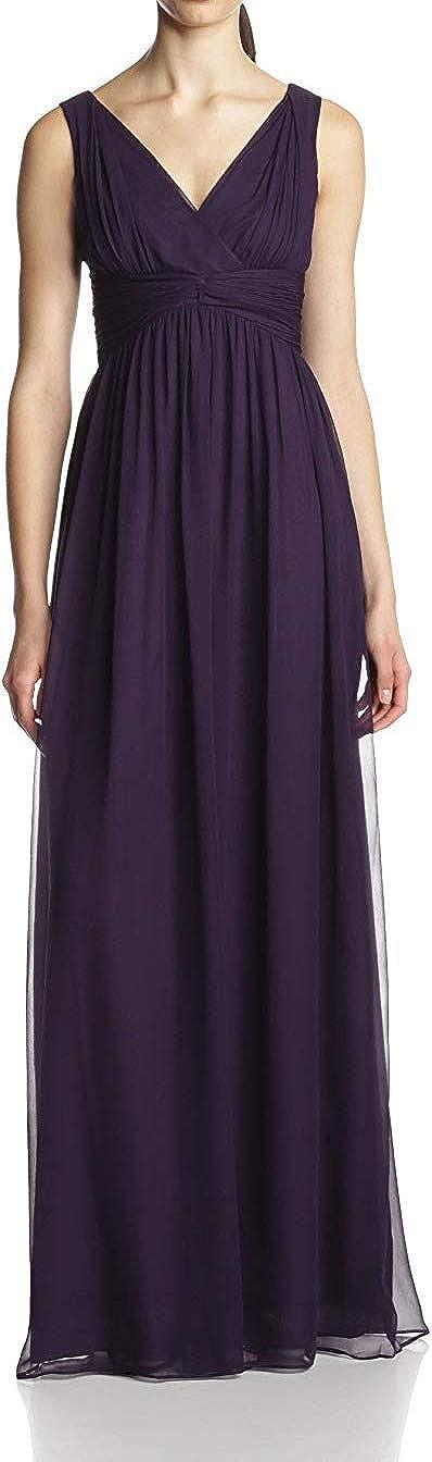 Donna Morgan Women's Julie Long V-Neck Chiffon Dress
