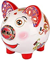 子供のためのお金の銀行中国の貯金箱ラッキー貯金箱パーソナライズされた貯金箱完璧な装飾貯金箱