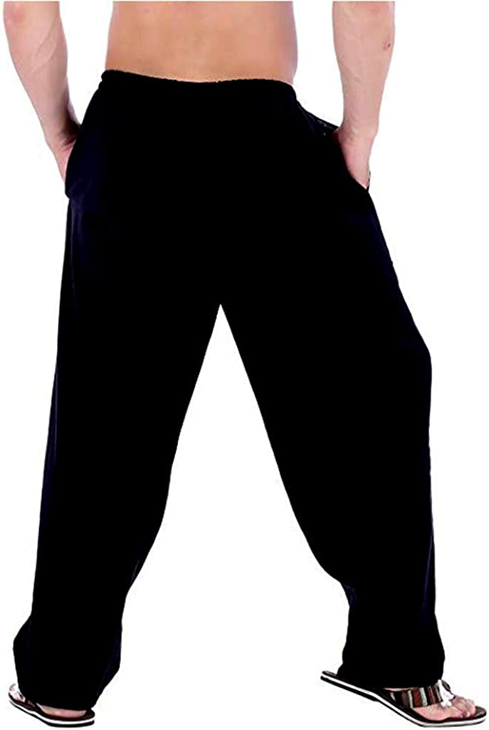 excellence Men's Linen Save money Large Size Pocket Trousers Sports Work Pa Pure Color