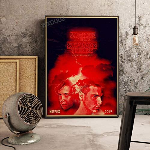 SDFSD New Science Fiction Drama Vintage Poster TV Bild Fremde Dinge Schlafzimmer Wohnkultur Kinderzimmer Kinderzimmer Leinwand Gemälde 90 * 120cm C.