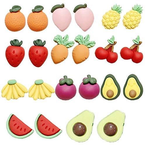Juland 66 piezas en miniatura casa de muñecas frutas mini naranja casa de muñecas decoración cocina comida mezcla kawaii linda resina plana cabujón ornamental para teléfono decoración scrapbooking DIY