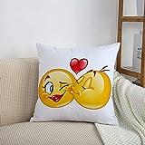 Fundas de cojines sencillas y clásicas de 45 x 45 cm,Emoji,...