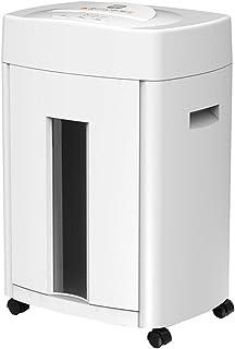 機密データシュレッダー本社騒音低減用シュレッダー大型商業用シュレッダーシングル破砕可能12 (Color : 白, Size : 41*31.8*62cm)
