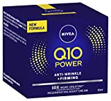 NIVEA Q10 Power Anti-Wrinkle & Firming Night Cream Moisturiser, Formulated with Q10