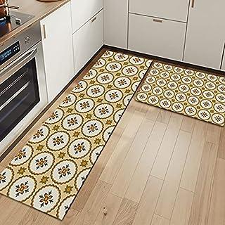 WESG Moderiktigt kök 3D-tryck halkfri matta dörrmatta, modern hementrédörrmatta, badrum absorberande matta nr 2 50 x 80 cm