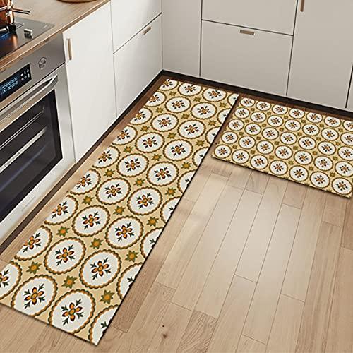 WESG Tappetini Antiscivolo Moda per cucine, zerbini Ingresso casa, tappeti Lavabili antimacchia per bagni No.2 40X60cm