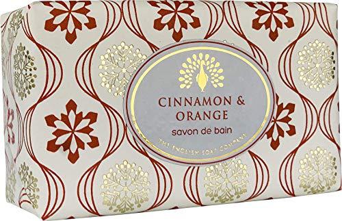 The English Soap Company, Vintage Wrapped Shea Butter Soap, Cinnamon & Orange, 200g