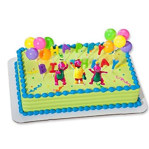 CakeSupplyShop CKB6Y Barney Birthday Cake Decoration Party Favors Figurine Toys