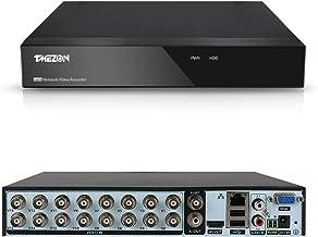 TMEZON 16-Channel AHD DVR Video Recorder 5-in-1 Hybird(1080P NVR+1080N AHD+960H Analog+TVI+CVI) Surveillance CCTV Standalo...