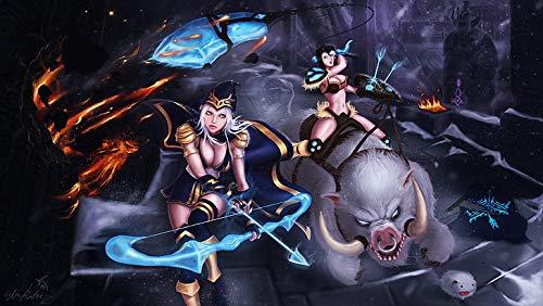 Poster World Ashe And Sejuani League Of Legends - Póster (30,5 x 45,7 cm), diseño de la Liga de Leyendas, multicolor