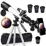 [Aggiornato] Telescopio, Telescopio Astronomico per Adulti, 60mm Apertura 500mm AZ Mount Rifrattore...