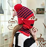 Sombrero adulto Mscara de gorro de lana, adems de terciopelo, sombrero grueso, invierno,...