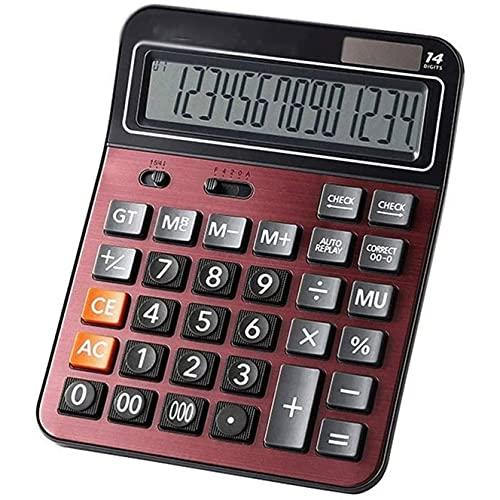 Gyalid. Calcolatrice, calcolatrice Multifunzione, calcolatrice per Ufficio a Batteria Solare a 14 cifre con Grande LCD. Visualizzazione, Doppia Potenza Big Button, per Ufficio Quotidiano e di Base