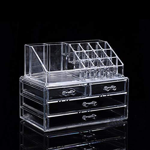 ZHAS Boîte de Rangement cosmétique Clear Acrylique Maquillage Organisateur De Stockage Boxe en Plastique Maquillage Organisateur pour Les Cosmétiques Rouge À Lèvres Organisateur Maison De Stockag