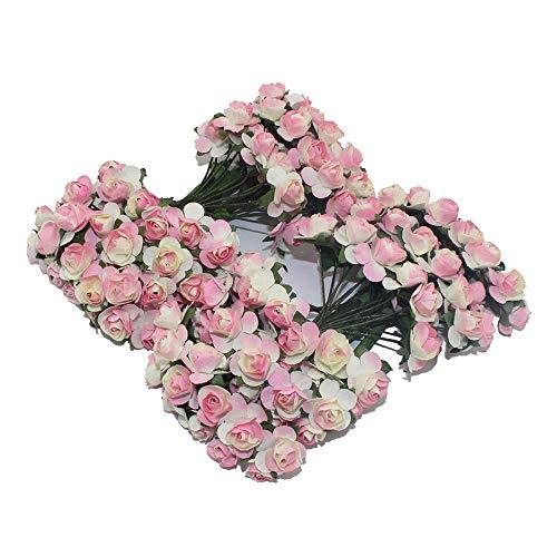 LARRY-X Künstliche Papierblumen Mini Künstliche Rosen für Party Blumen und Hochzeitssträuße Dekoration, Rose, 15 * 10 * 2