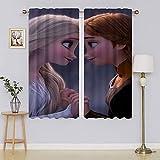 Frozen 2 cortinas opacas Elsa, de microfibra que reducen el ruido y mantienen calientes las cortinas para sala de estar o dormitorio (163 x 1177 cm)