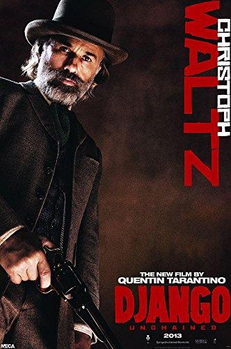 Django Unchained Christoph Waltz Poster Dr. King Schultz - Exklusiv Plakat // 61 x 91,5 cm + 2 St. Schwarze Posterleisten mit Aufhängung