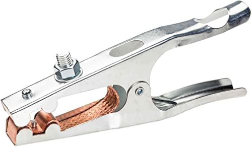 popular Lincoln Electric K910-2 Heavy Duty Ground Clamp - 500 Amp Rating - Copper online online Plated Jaw - Braided Copper Shunt outlet sale