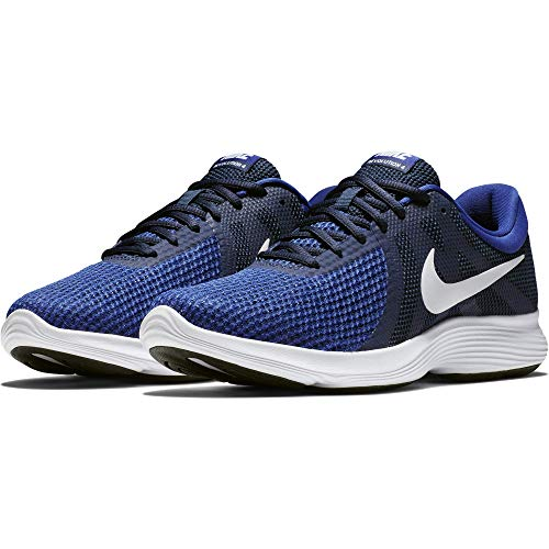 Nike Revolution 4 – Zapatillas Deportivas para Hombre, Midnight Navy/White – Deep Royal, 10.5 M US