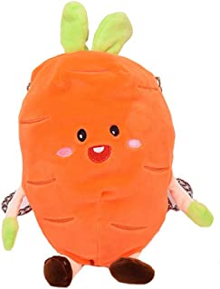 3D New Cute Cartoon Carrot Style Purse Tote Coin Card Wallet Pouch with Strap