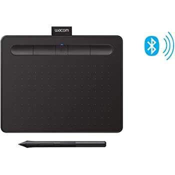 """Wacom Intuos Wireless Graphics Drawing Tablet with 2 Bonus Software included, 7.9"""" x 6.3"""", Black (CTL4100WLK0)"""