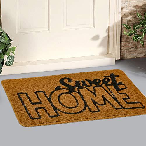 """GGPOWER Felpudo para Exterior, Interior y hogar, Antideslizante, Lavable, resiste la Suciedad, alfombras para Puerta de Entrada (17"""" X 30"""", Sweet Home)"""