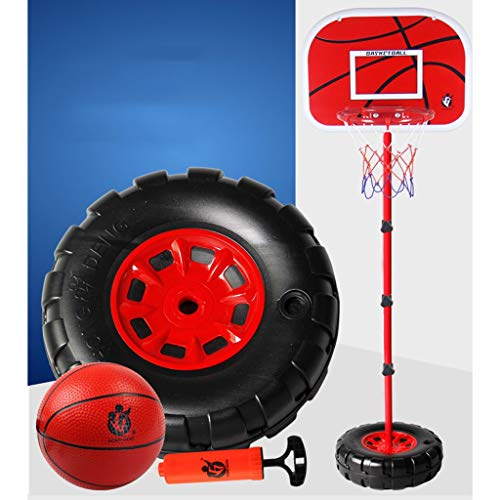 Buy Discount RXY-CHILD Individual Tire Shape Base Can Be Raised and Lowered Basketball Box Children ...
