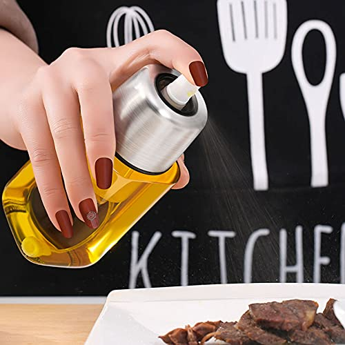 ZWWZ Dispensador de Botella de Aceite de Oliva/vinagre/condimento de Acero Inoxidable para Cocina,engrasador en Aerosol a presión de Aire