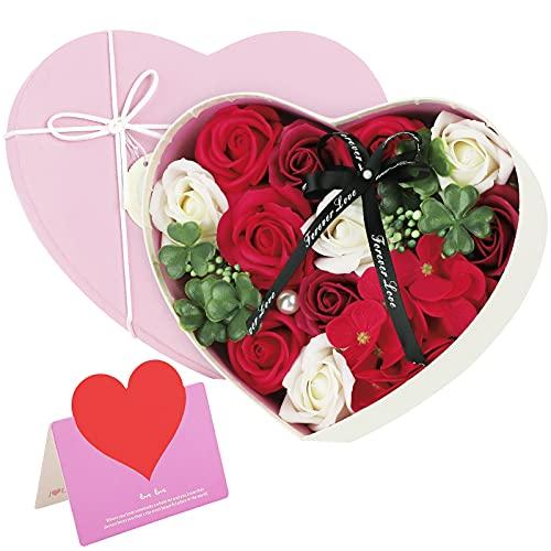 ANBET Caja de Regalo de Flores Falsas Jabón Artificial Rose preservada para...