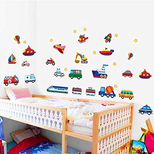 Cartoon Cars Tractor Truck muur Stickers Muurstickers Kids kamer Decoratie DIY Auto Home Stickers Art Kinderen Gift