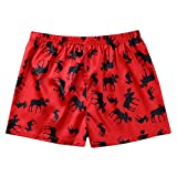 ACSUSS Men's Frilly Satin Boxers Shorts Silk...