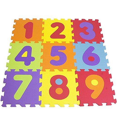 Spielmatte Fußboden EVA Schaum Puzzle Spielboden Animals oder Numbers, Ausführung:Numbers