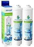 2x AquaHouse AH-UIF Filtro universal de agua para nevera compatible con Samsung LG Daewoo Rangemaster Beko Haier etc Nevera Congelador