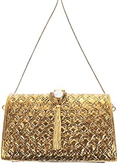 From St Xavier Women's Zara Clutch, Gold, One Size