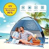 Tienda de campaña para Playa Super Bluecoast Paraguas de Playa al Aire Libre Sun Shelter Cabana automático Pop Up UPF 50 + Sun Shade Portátil Camping Pesca