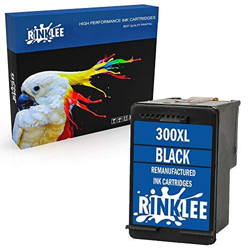 RINKLEE Remanufacturado para HP 300XL Cartucho de Tinta Compatible con HP Deskjet D1660 D1663 D2530 D2545 D2560 D2660 D5560 F2420 F2480 F4210 F4240 F4272 F4280 F4580 Photosmart C4780 C4680 | Negro
