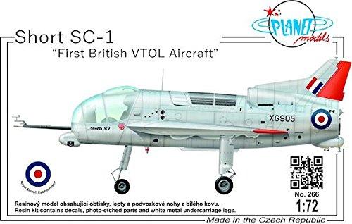 Planet Models plt266 – Modèle Kit de Short de SC 1 First British vtol Aircraft Gris
