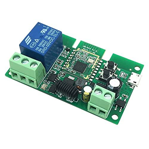 Milkvetch MóDulo de Relé, MóDulo de Relé de Interruptor Inteligente WiFi, MóDulo de Interruptor de Bloqueo AutomáTico de Relé para Control de Acceso, Puerta de Garaje