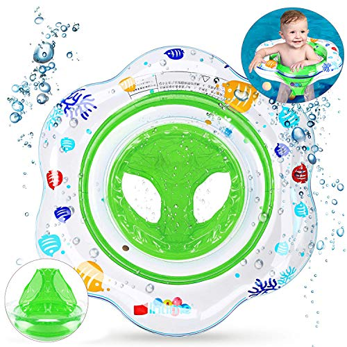 SPECOOL Anillo de Natación, Asiento de Flotador Inflable para Asiento de Flotador de Seguridad para Niños con Asiento por 6 Meses-3 años para Niños (Green)
