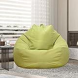 Funda de puf sin relleno XL (100 x 120) para adultos y niños, puf gigante de tela, puf de salón, para sofá grande, para interior y exterior (verde)