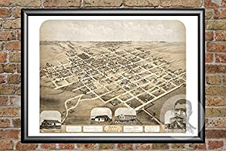 Ted's Vintage Art Pella Iowa 1869 Vintage Map Print | Historic Marion County, IA Art | Digitally Restored On Museum Quality Matte Paper 18