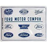 Nostalgic-Art Targhe Vintage Ford – Logo Evolution –...