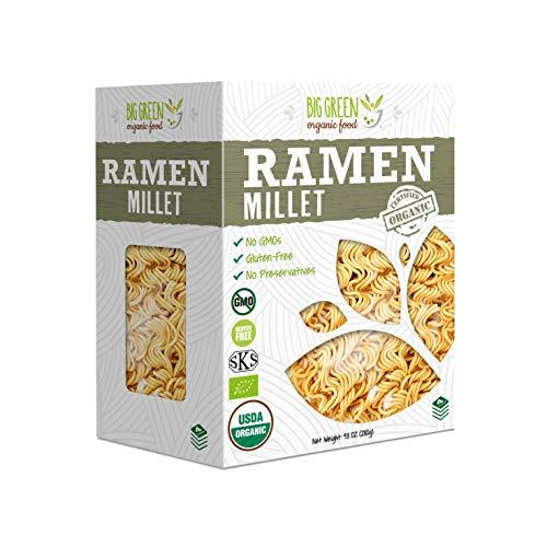 Big Green Organic Food- Organic Millet Ramen, 9.8oz, Gluten-Free, Non-GMO, Vegan (1)